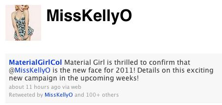 kelly o material girl