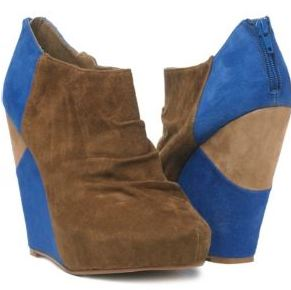 new look blue patch wedge